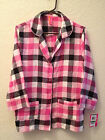 JENNI BY JENNIFER MOORE LONG SLEEVE FLANNEL PAJAMA TOP Small or Large