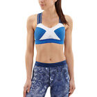 Skins Womens DNAmic Sports Support Bra Top Blue Gym Running Breathable
