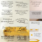 Bible Verse Wall Decals Christian Quote Vinyl Wall Art Stickers Scripture Decor $2.75 USD on eBay