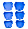 Dental Plaster Model Base Former Molds Tray Silicone Rubber Blue Tray  For Denta
