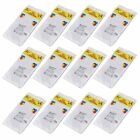 """12 Pack 84"""" Round Table Cover Tablecloth Plastic Table Cloth Reusable PEVA HI"""
