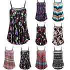 Women Summer Printed Sleeveless Vest Blouse Tank Tops Beach Lady Camis Clothes