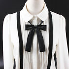 Girls Ladies Satin Silk Adjustable Bowknot Bow Tie Students Collar Necklace Hot