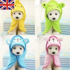 UK Pet Puppy Dog Cat Nightgown Bathrobe  Absorbent Bath Towel Pajamas Blanket