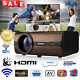 1080p Android LCD Projector 8G+1G BT 4.0 USB VGA HDMI DVD TV Home Theater NEW