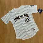 Milwaukee Brewers #22 Christian Yelich White Jersey M-3XL Same Day Shipping on Ebay