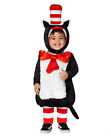 Mens Womens Child Cat In The Hat Costume Dr Seuss Jumpsuit Boys Girls Book Week