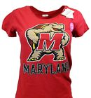Maryland Terrapins NCAA J. America Women's Red T-Shirt, nwt