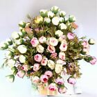 15 Heads Artificial Flowers Colours Bouquet Wedding Bridal Home Decor