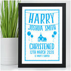 Personalised Christening Day Gifts for Baby Boy Godson Grandson Son Kids Baptism