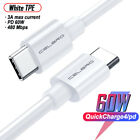 Usb c to Usb C Chaging Cable Fast PD Type C Cord Fit Macbook Huawei Samsung Asus