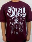 GHOST SWEDISH PUNK ROCK  BAND BURGUNDY T SHIRT image