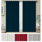 Mellanni Blackout Curtains 2-Panel 52x63 Thermal Insulated Rod Pocket 2 Tiebacks