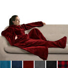 Snuggie Fleece Wearable Blanket With Sleeves and Foot Pocket Plush Microfiber image