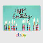 eBay Digital Gift Card - Happy Birthday Candles -  Email delivery фото