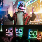 MarshMello DJ  LED Mask Full Head Helmet Halloween Easter Cosplay Bar Music Prop