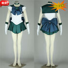 Sailor Neptune Kaiou Michiru Full Outfit Dress US SIze Cosplay Costume Female