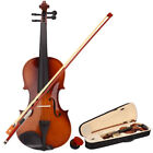 Upgraded Basswood Acoustic Violin 4/4 Full Size with Case and Bow Rosin Natural