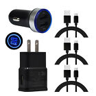 For Samsung Galaxy S10e S10 S9 S8 Plus Wall Fast Car Phone Charger Type C Cable