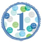 First Birthday, 1st Party Baby Boy Dots Tableware Partyware Decoration Balloons