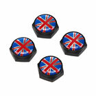 4x Flag Pattern Car License Plate Frame Screws Covers Colorful Universal Fit Car