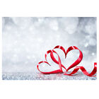 Floral Photography Backdrop Glitter Heart Wood Photo Background Home Party Decor
