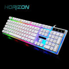 Rainbow Gaming Keyboard and Mouse Set Backlight Ergonomic USB For PC Laptop