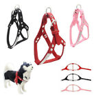 UK Soft Suede Leather Dog Harness Bling Rhinestone S/M/L Dogs Walking Vest