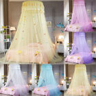 Kids White Satin Crown Mosquito Net Bed Single Double King Insect Fly Canopy US image