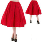 POLKA DOT SKIRT by HEARTS & ROSES LONDON 50'S VINTAGE SWING ROCKABILLY JIVE