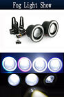 "2.5"" Car Fog Light Lamp COB LED Projector Halo Angel Eyes Rings DRL White/Blue $15.99 USD on eBay"