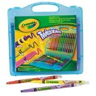 CRAYOLA TWISTABLE CRAYONS CASE 16 Colours Colouring Rainbow Neon Travel Gift