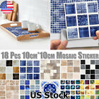 Kitchen Waterproof Mosaic Stick On Self Adhesive Wall Tile Stickers Home Decor