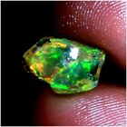 Natural Top QualityWelo Fire ETHIOPIAN OPAL Play Of Color Rough Gemstone MOM233