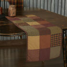 Heritage Farms Quilted Block Patchwork Runner Country Farmhouse VHC Brands