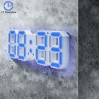 Alarm Clock Digital 3D LED Display Alarm Clock Desktop Wall Watch Modern Design