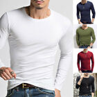 Men's Slim High/O-Neck Long Sleeve Muscle Tee Shirts Casual T-shirt Tops Blouse image