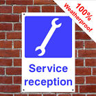 Service reception garage safety sign GAR17 waterproof signs and notices