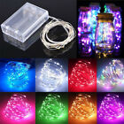 Fairy Lights Battery Operated Micro Warm/Cool White LED Copper/Silver Wire Lamp