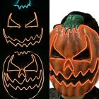 LED Light Up Pumpkin Faces Mask Glowing Halloween Party Mask Horror