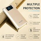 100000MAH POWER BANK LCD PORTABLE EXTERNAL BATTERY DUAL USB CHARGER FOR MOBILE