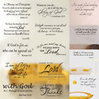 Bible Verse Wall Decals Christian Quote Vinyl Wall Art Stickers Scripture Decor $2.99 USD on eBay
