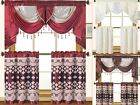 Empire Home Elegant Fancy Kitchen Curtain 3-Piece Window Set - New Arrival