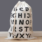 Drawstring Storage Bag For Clothes Canvas Laundry Bag Travel Luggage Stuff Bags