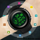 Unisex Men's Women Digital LED Silicone Band Date Sport Outdoor Electronic Watch image