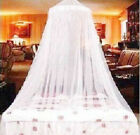 White Lace Bed Mosquito Netting Mesh Canopy Princess Round Dome Bedding Net image