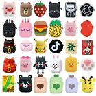 3D Q Cartoon Earphone Protective Silicone Cover For Apple Airpods Charging Case $5.29  on eBay