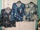 SONOMA The Everyday Tee Woman's Long Sleeve Floral V- Neck Tops, Sizes XL, XXL