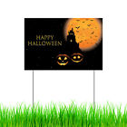 Happy Halloween Yard Sign Scary Hunted House Pumpkin Party Decor Garden Sign
