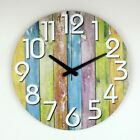 Large Colorful Decorative Wall Clock Modern Design Living Room Home Decoration